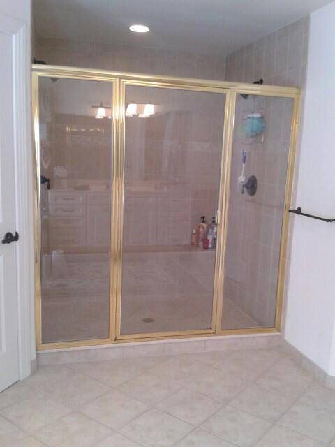 Updating Gold Trim Shower Enclosures Bryn Mawr Glass