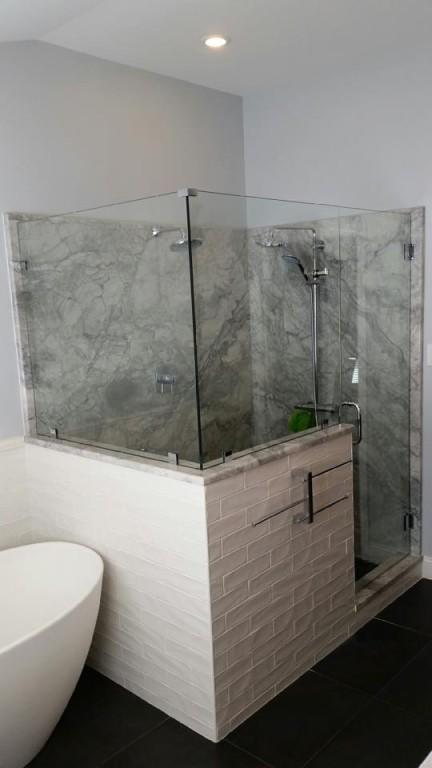 New Glass Shower