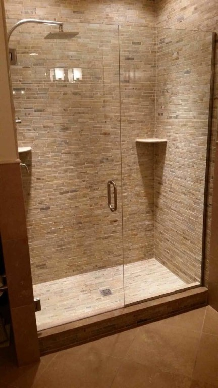 Custom Shower Door in Glass