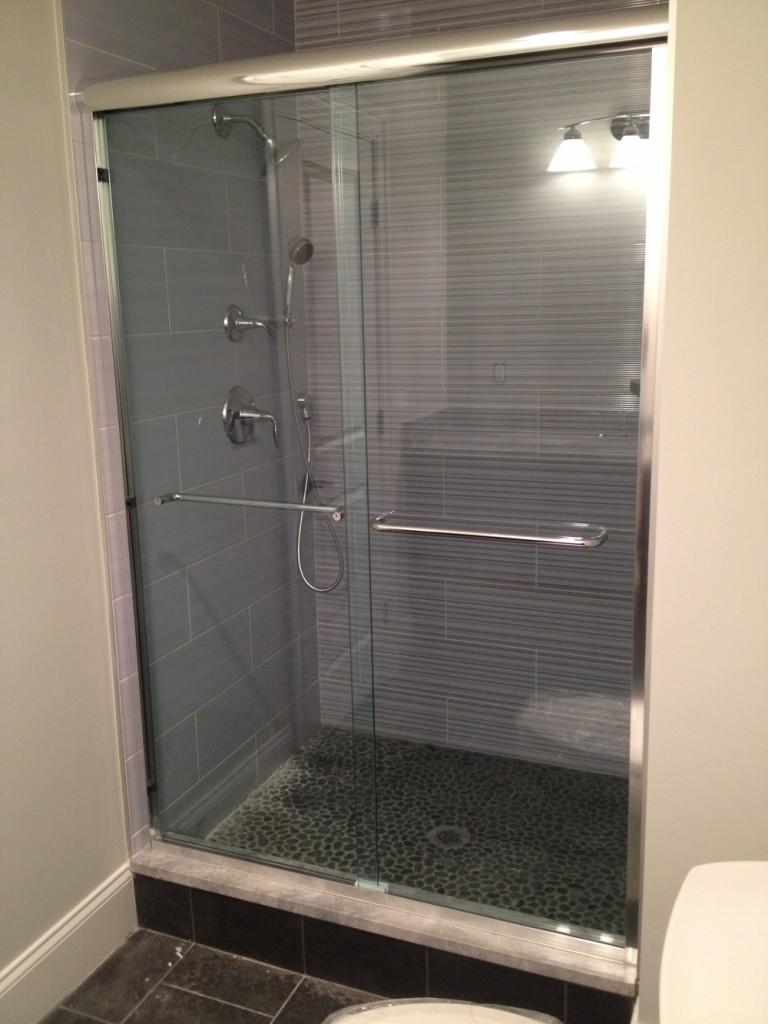 Frameless Sliding Shower Doors Bryn Mawr Glass Amp Mirror