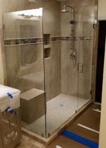 shower glass installation