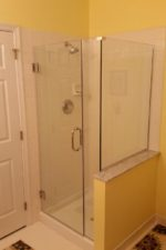 after updating the shower door