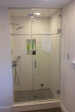 Custom Shower Door by Bryn Mawr Glass