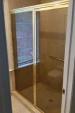 Bryn Mawr Glass custom shower door before removing frame