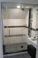 Custom frameless shower door
