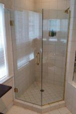 Newly frameless glass shower door by Bryn Mawr Glass