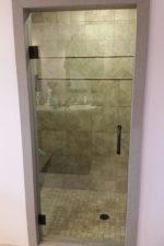 Installing a frameless glass shower door