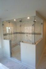 Custom glass shower enclosure by Bryn Mawr Glass