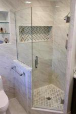 New, Modern Glass Shower Enclosure by Bryn Mawr Glass