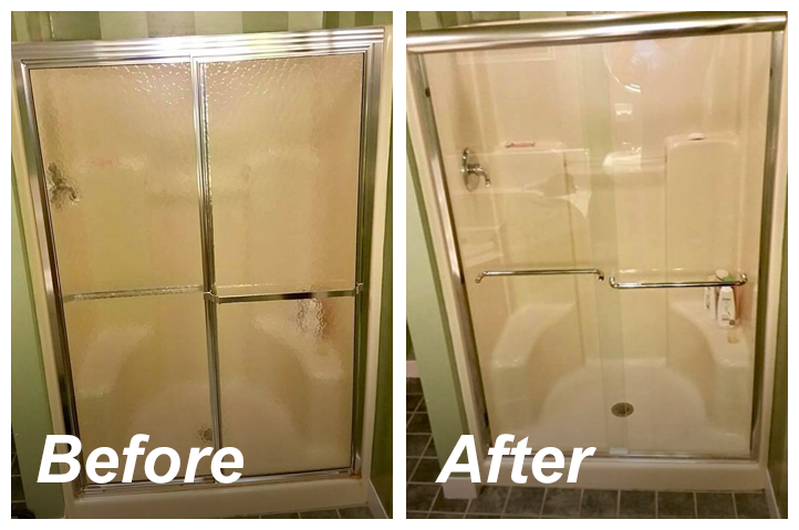 Before and After Updating to a Framless Glass Shower Door